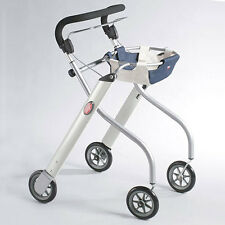 Lets Go Indoor Rollator - Silver - Manoeuverable - Single Hand Brake - VAT Inc