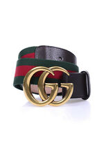 Gucci Belt % Nastro Web Leather MADE IN ITALY Woman Greens 409416HE2AT-8664