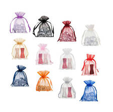 Small Organza Bags- Drawstring Wedding Gift Decoration Pouches 10x15cm - 200 Pcs