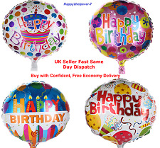"""Party Balloons 18"""" Round Large Happy Birthday Helium Foil Balloons Quality"""