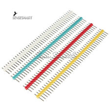 10PCS 40 Pin Strip Breakable Pin Header Male 2.54mm Blue/Red/Yellow/Green/White