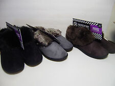 Women's  Isotoner Signature Microsuede Low Boot Slippers Memory Foam Nikita