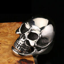 Fashion MENS Huge Heavy Skull 316L Stainless Steel Biker Ring Jewelry Size 7-13