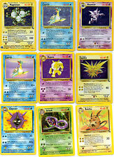 POKEMON CARDS FOSSIL SET (62) HOLOS ,RARE ,UNCOMMON & COMMON . MINT/NEAR MINT