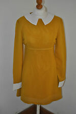 Mod Dress - 1960s vintage style mustard and white dress by Pop Boutique BNWT