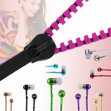 Metal Zipper Earphone In-Ear Bass MP3 Music 3.5mm with Microphone Stereo NEW KEP