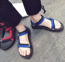 Mens Casual Sand Beach Sport Sandals Flats Buckle Strappy Outdoor Leisure Shoes