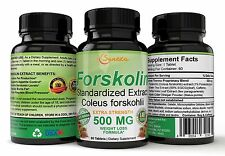 FORSKOLIN 100% Pure 500mg Max Strength Forskolin Extract Supplement, Weight Loss