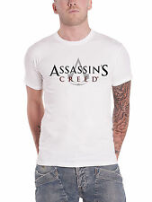 Assassins Creed T Shirt classic Logo gaming PS4 Xbox new Official Mens White