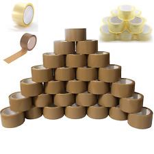 STRONG PACKING TAPE - BROWN / CLEAR / FRAGILE 48mm x 66M -132M Rolls PARCEL TAPE
