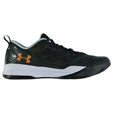 Under Armour Jet Low Basketball Shoes Mens Grn/Wht Trainers Sneakers Footwear