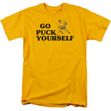 GO PUCK YOURSELF (HOCKEY) Humorous Adult T-Shirt All Sizes