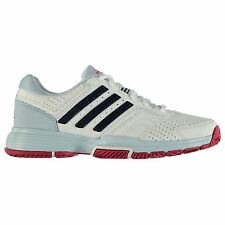 adidas Barricade Court 2 Tennis Shoe Womens White Sports Trainers Sneakers
