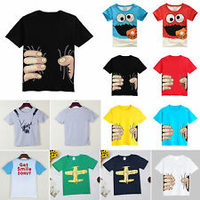 Kids Boys Toddler T-shirt Cartoon Printed Short Sleeve Summer Top T Shirt Blouse