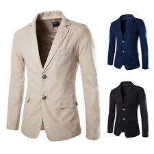 Fashion Mens Slim Two Button Casual Suit Blazer Coat Jacket Two Pockets Tops New