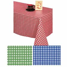 Wipe Clean Tablecloth Oilcloth PVC Vinyl Blue|Red|Green Gingham Check Design