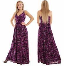 Summer Maxi Dress Holiday Resort Day Evening Party Empire Purple Black MontyQ