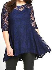 New So Fabulous size 14 blue lace swing tunic top blouse