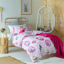 Jiggle and Giggle Forest Friends Girls Doona Quilt Cover Set Single Double Queen