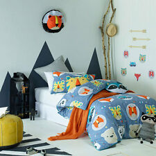 Jiggle and Giggle Funny Faces Boys Doona Quilt Cover Set Single Double Queen