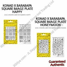 Genuine KONAD X BARABAPA Stamping Nail Art Square Image Plate Happy Honeymoon