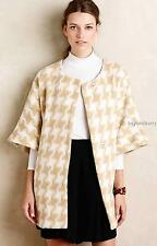 NEW Anthropologie Elevenses Houndstooth Wrap Coat  Size M/L  $188