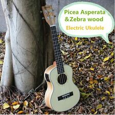 Soprano Concert Tenor Acoustic Electric Ukulele Asperata Zebra Wood