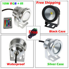 Multicolor 10W LED Flood Light Underwater Spot Light RGB Warm/Cool DC 12V IP68