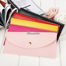 New Women Candy Color Envelope Clutch Bag Thin Wallet Purse Card Holde BF9