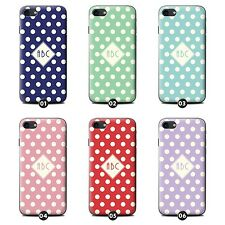 Personalized Custom Polka Dot Gel Case/Cover for HTC One/Desire Phone Initial