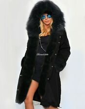 Women Ladies Winter Faux Fur Overcoat Hooded Parka Coat Long Jacket Outwear YAN1