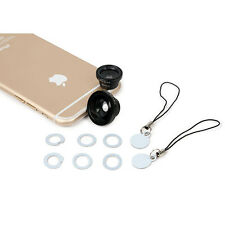 3 in 1 Fisheye +Wide Angle +Macro Photo Lens Mobile Phone iPhone Camera Kit Set