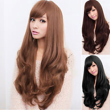 Women Lolita Curly Wavy Long Full Wig Heat Resistant Cosplay Party Hair Showy
