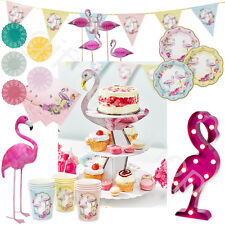 Truly Flamingo Vintage Tea Party Accessories Cups Plates Summer Partyware Sets