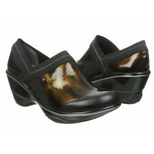 Jambu Women's Cali Marble Patent Clog,Black/Olive,6 M US [Shoes]