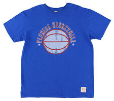Retro Brand Mens Florida Gators College Slub T Shirt Blue