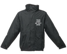 Personalised Embroidered Waterproof Windproof Jacket Workwear Gift Any Logo Text