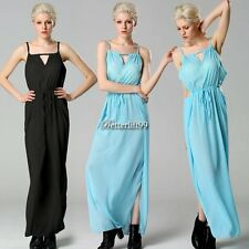 Fashion Lady Sexy Women's Chiffon Halter Off-shoulder Hollow Out Maxi BF902
