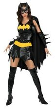 Batgirl Costume Licensed Womens Batman Super Hero Cape Mask Adult Fancy Dress