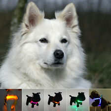 USB LED Flashing Light Dog Harness Safety Pet Puppy Harness Collar Lead Leash