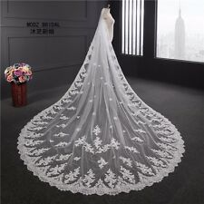 New Lace Applique Cathedral Wedding Veils Bridal Veils White Ivory With Comb