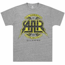 """All American Rejects """"Distressed"""" Logo T-Shirt Punk Rock Band Music Grey Fashion"""