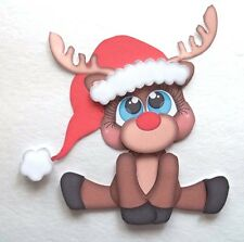 3D-U Pick - XM3 Christmas Reindeer Sleigh Cookies Card Scrapbook Embellishment