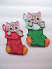 3D - U Pick - XM14 Christmas Kittens Cats Winter Card Scrapbook Embellishment