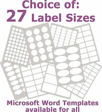 Removable Low Tack Labels Rectangle Matt White Laser Inkjet Stickers 5 A4 Sheets