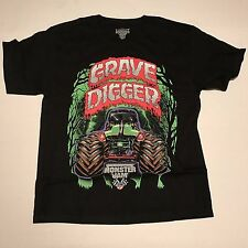 MONSTER TRUCK GRAVE DIGGER KIDS SHIRT FELD MOTOR SPORTS MONSTER JAM