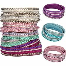 Rhinestone Leather Crystal Multilayer bangles for Women/Men