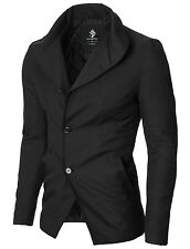 MODERNO Mens winter slim fit heated lining blazer jacket sport coat (MOD14520B)