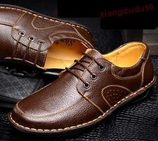 Mens Oxford Faux leather Casual Flats Slip on Loafers Driving Moccasins Shoes