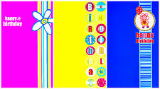 Childs Girl Birthday Greetings Cards 3 Designs Quality Cards- Can Send Direct :)